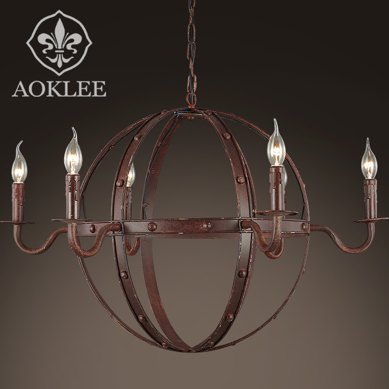 China round iron chandelier china round iron chandelier shopping get quotations loft american scandinavian retro round wrought iron candle chandelier lamp living room lights restaurant round chandelier aloadofball Choice Image