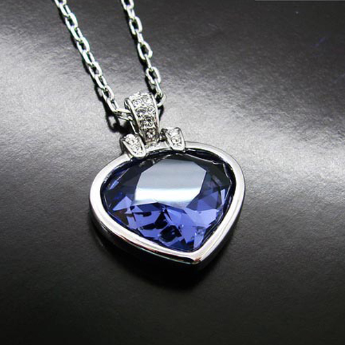 Lohman poetry purple crystal necklace short paragraph clavicle chain necklace female accessories korean version of japan and south korea south korea fashion jewelry pendants