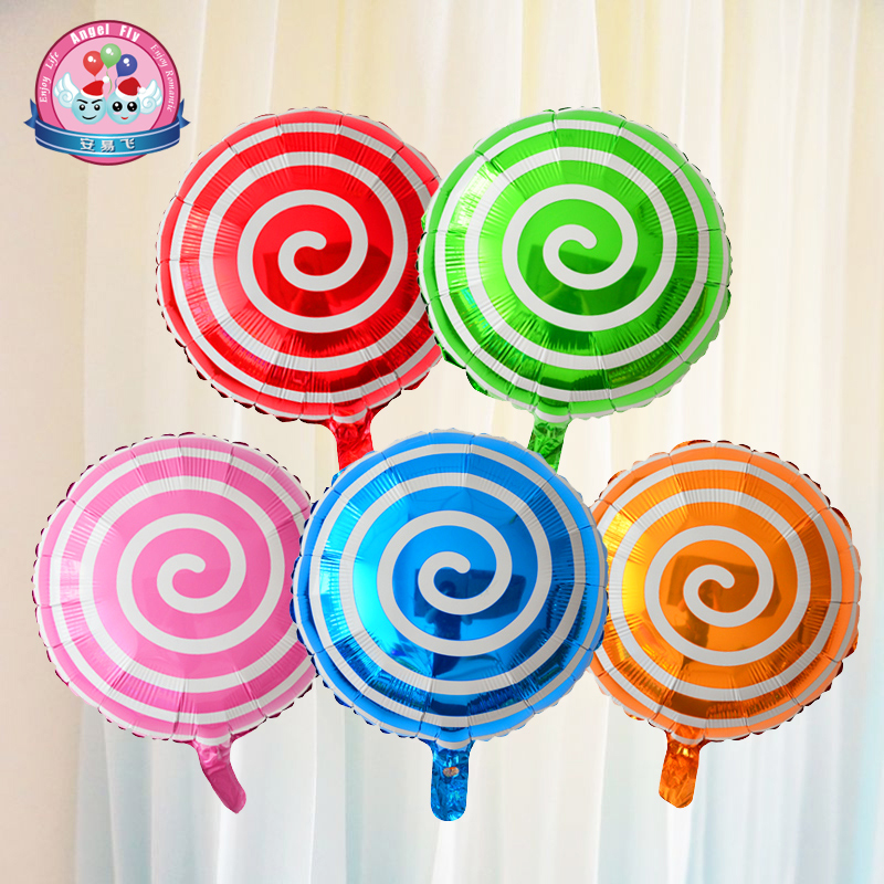 Lollipop 18 18-inch aluminum balloons for children birthday party balloons arranged wedding decorations wedding room hotel