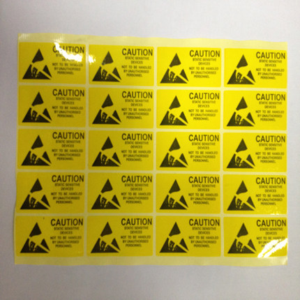 Long yan jia hot antistatic labels/warnings labels/stickers 2.5 cm * 5.5 cm