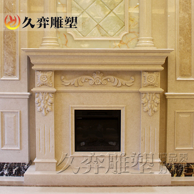 [Long yi sculpture] marble fireplace stone fireplace mantel fireplace european indoor decoration