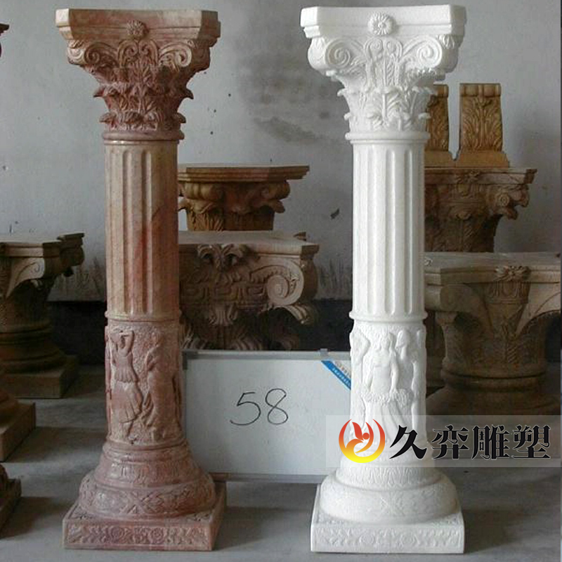[Long yi sculpture] roman marble stone pillars of european living room interior decoration stone roman leather