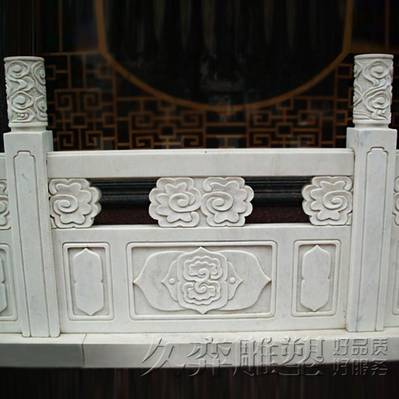 [Long yi sculpture] stone carving marble courtyard villa balcony railing fence column rod fence fence outdoor