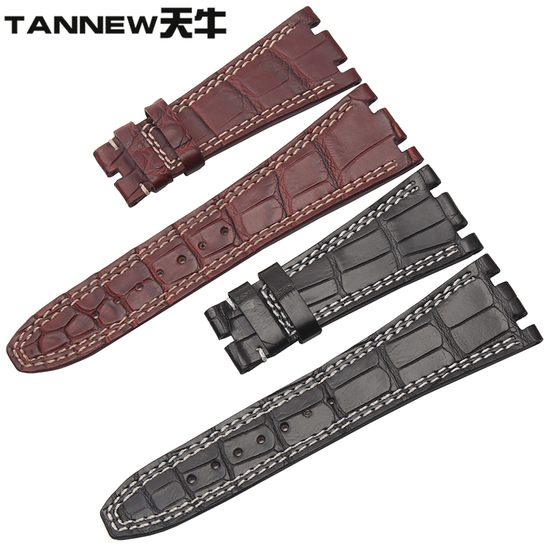 Longicorn alligator strap handmade custom leather strap male applicable ap audemars piguet royal oak series