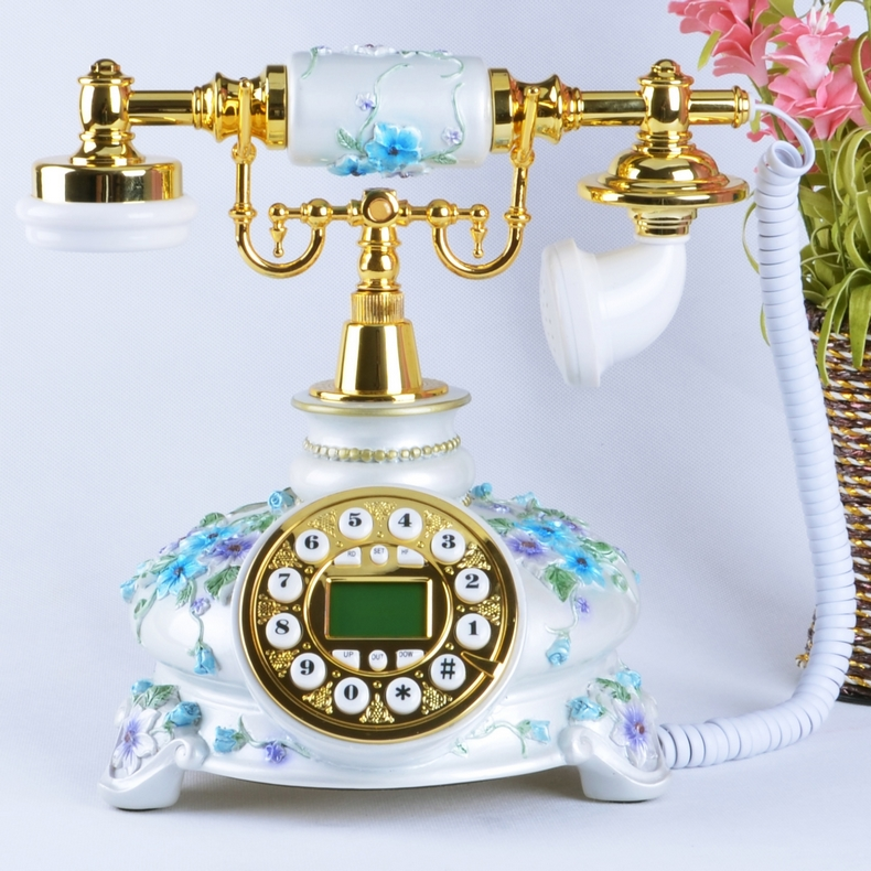 Look win european retro fashion creative antique telephones telephone landline upscale craft carved boutique home
