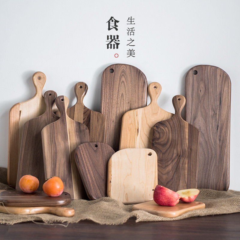 Lototo skillet haftplatte creative wooden fruit rubber wood cutting board chopping wood cutting board wooden cutting board kitchen