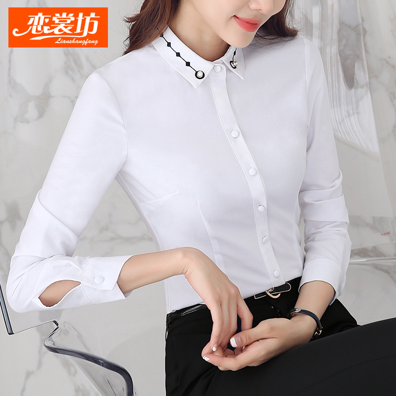 66f439a2c24 Get Quotations · Love couture square in autumn and professional women long  sleeve shirt business dress shirt slim large