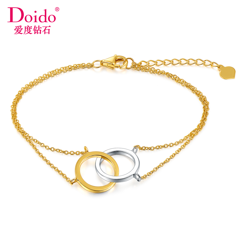 Love diamond doido k plain gold bracelet color gold white color bracelet female models genuine acacia buckle