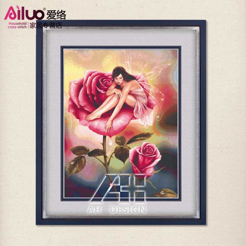 Love envelope stitch kim 100 figures sharply precise printing new living room rose rose fairy euclidian