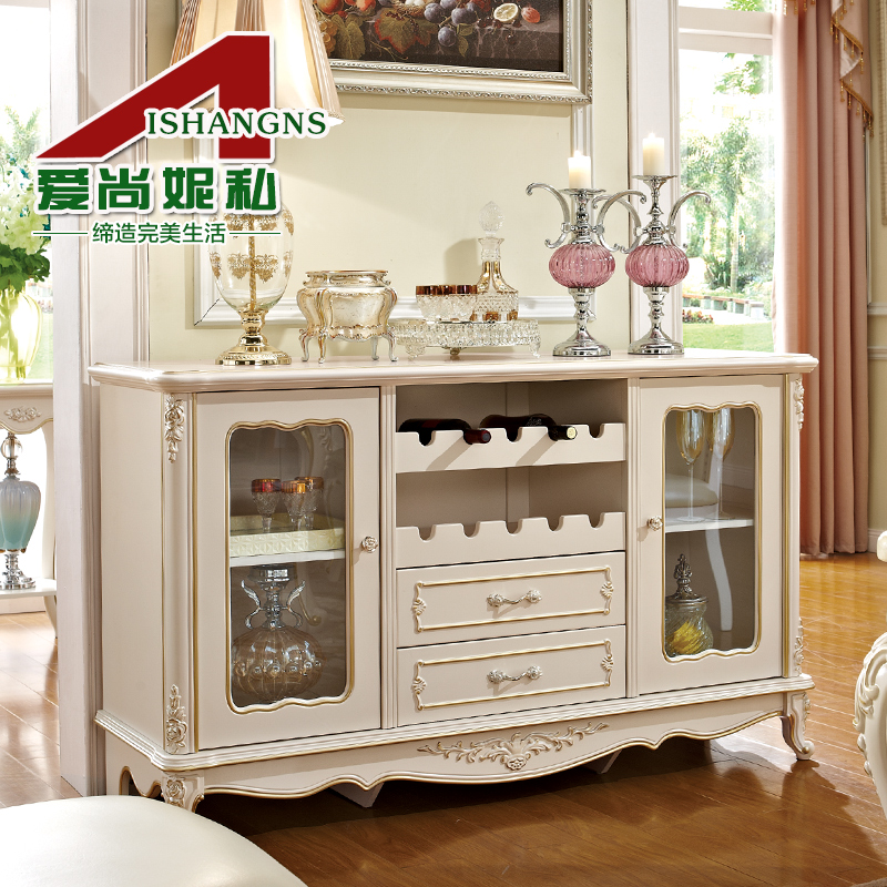 Love is still ni private dining room furniture european pastoral wood panels of high quality kitchen sideboard storage lockers cupboards wine 901
