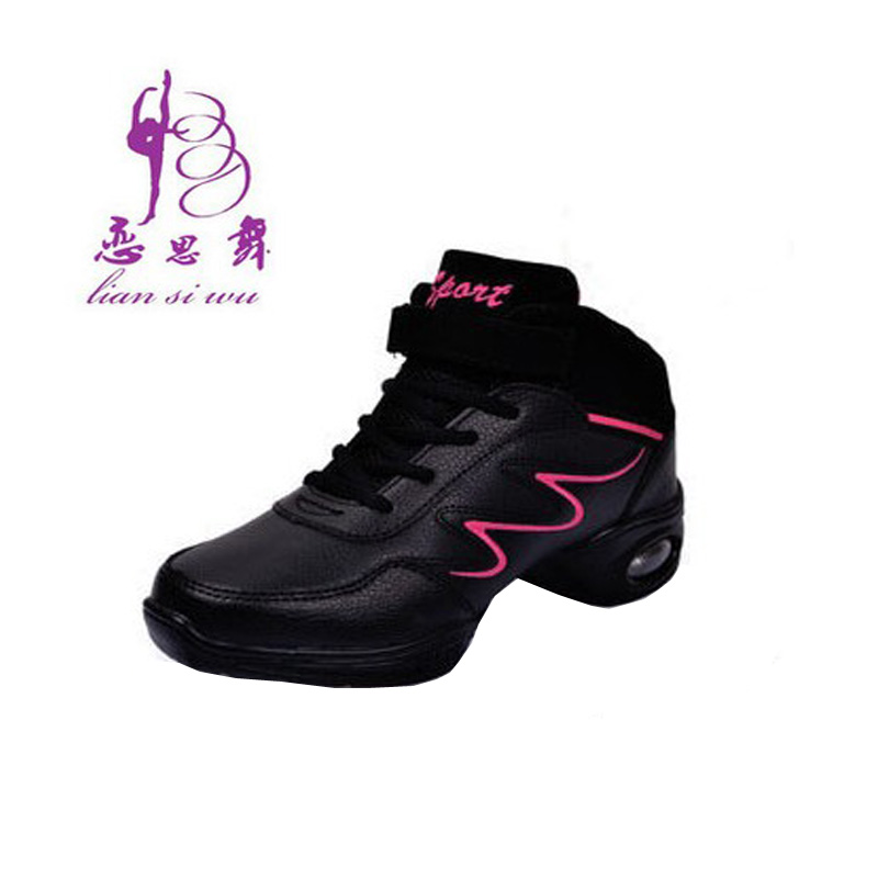 Love thinking dance shoes plus wool warm winter high shoes leather soft bottom increased modern square dance yoga dance fitness shoes dancing shoes