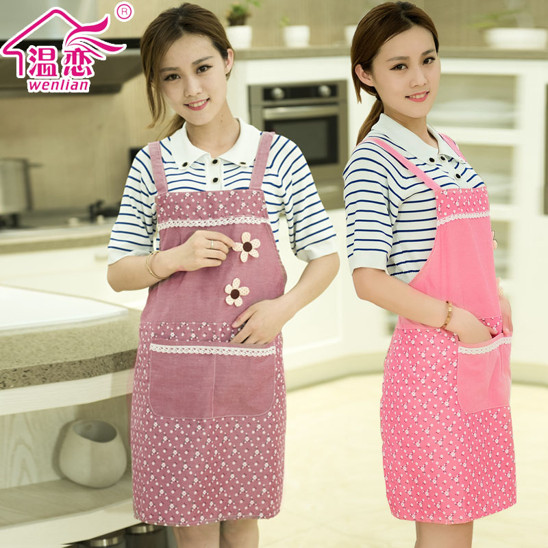 Love warm dust apron kitchen aprons korean fashion cute sleeveless vest beautiful home garden apron apron