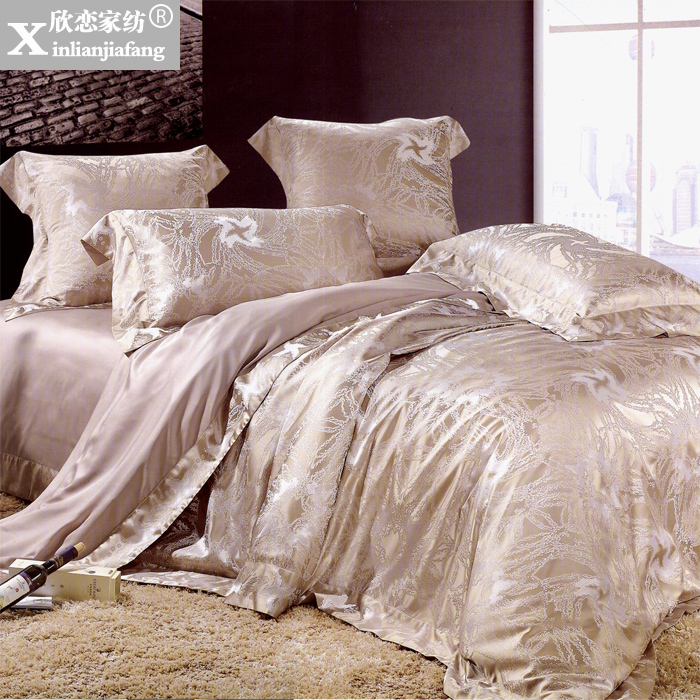 Love welcomes european and american style dyed jacquard textile six sets of thick silk silk XLZ-53