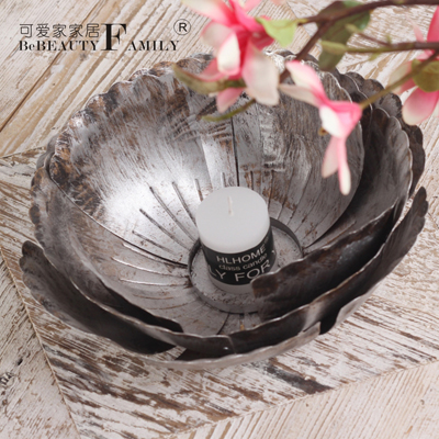 Lovely home creative to do the old wrought iron wrought iron crafts home decoration christmas candlestick candlestick lotus decoration