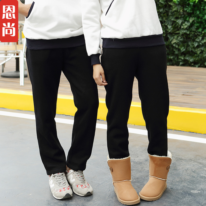Lovers fall and winter clothes 2016 new fall thick velvet pants wei was thin trousers korean version of the men and women casual sports pants tide