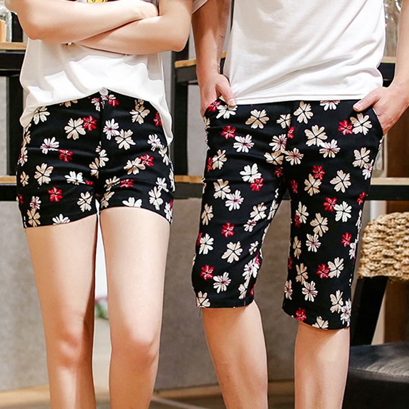 ec16b5f6ae6d Get Quotations · Lovers summer 2016 summer new retro wild floral shorts  beach pants fashion student class service men