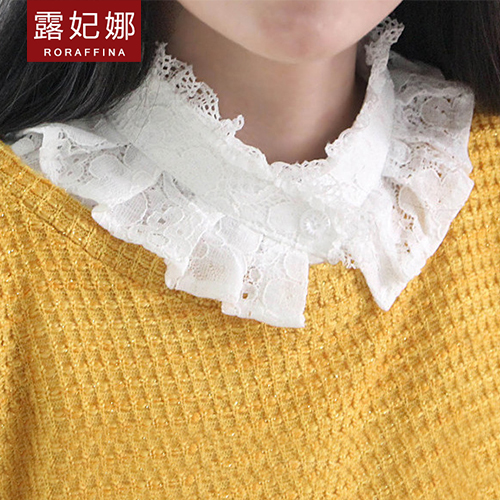 Lu fei na korean embroidery lace collar fake fake fake collar blouse fake fake fake collar spring and summer wild retro fake collar