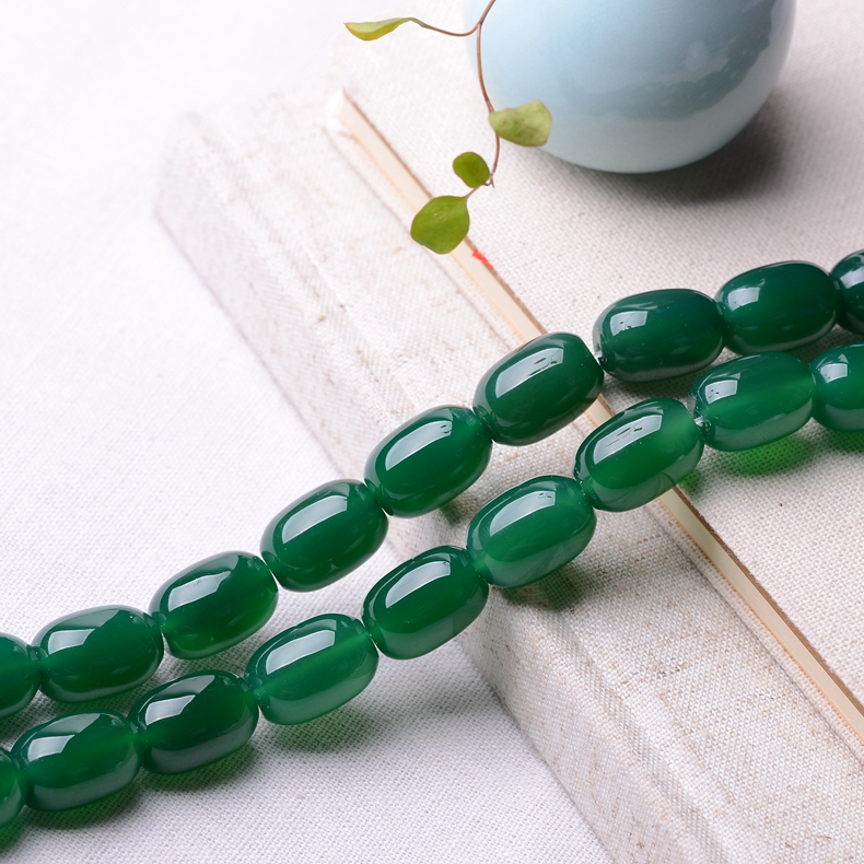 Lufthansa quiet diy diy jewelry accessories natural crystal green agate beads semifinished loose beads beaded bead transporter