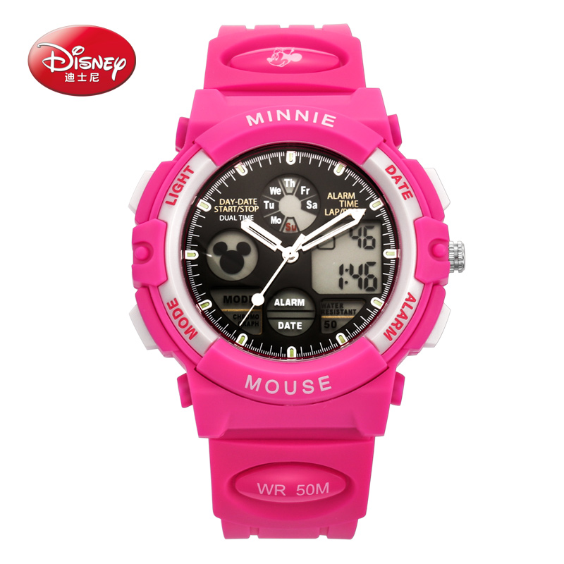 Luminous electronic watch waterproof watch girls girl child watches disney disney mickey boy student movement watches