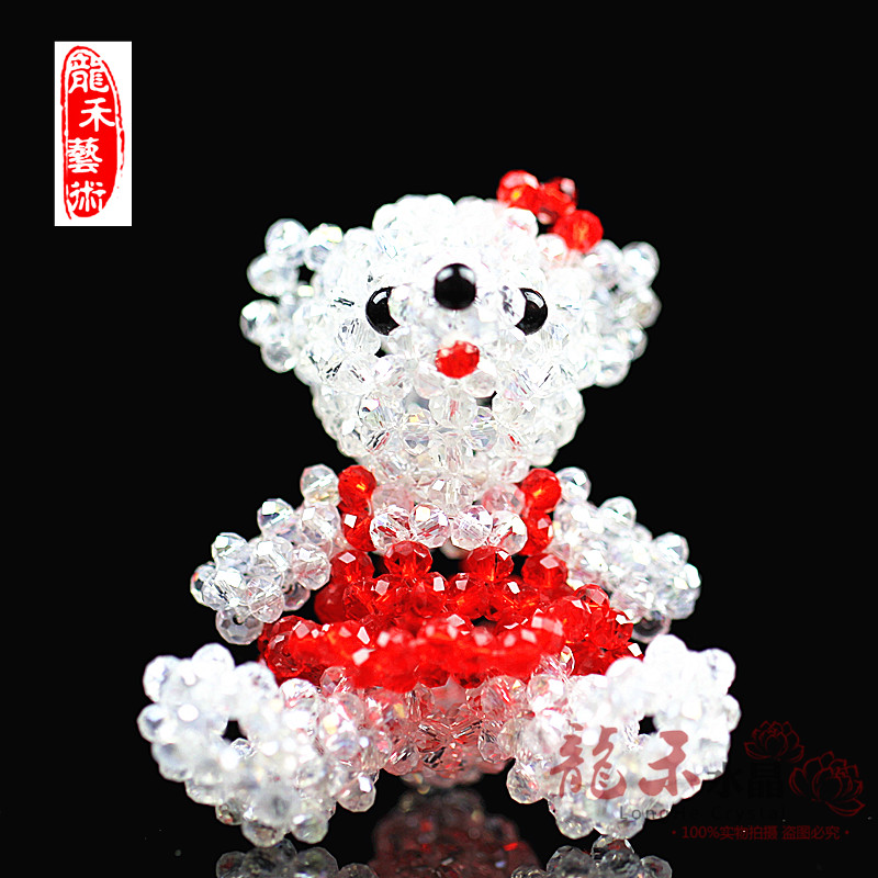 Lung wo car car hanging pendant crystal crystal teddy bear ornaments for security and peace car ornaments car accessories free shipping