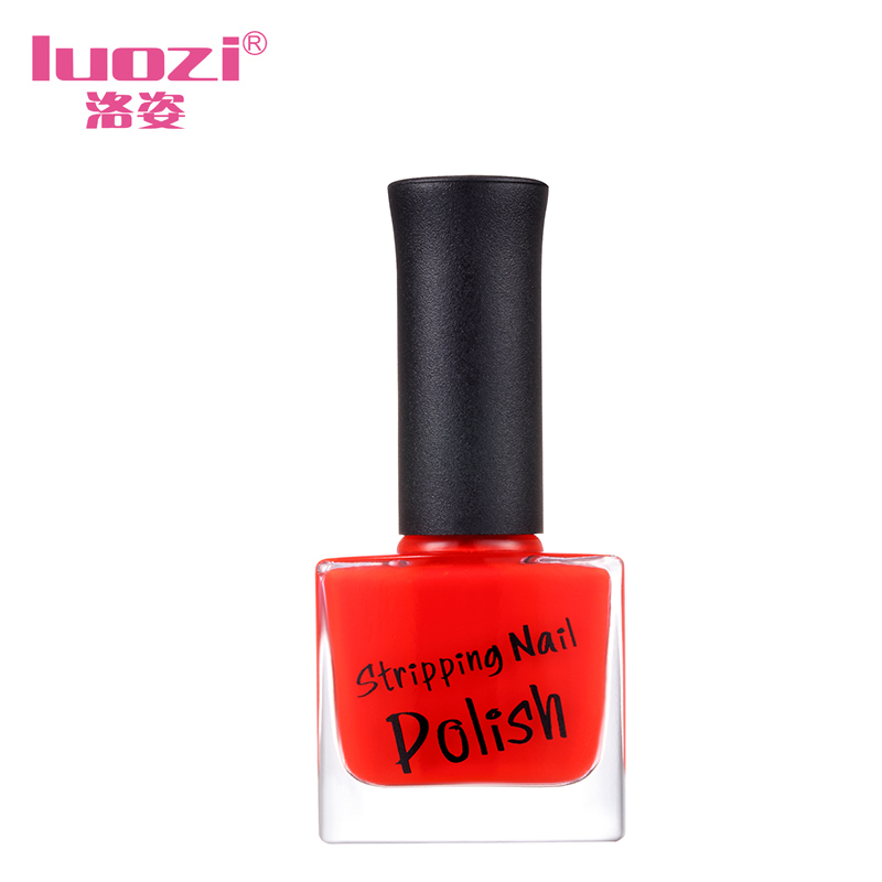 Luo zi slim pull nonvenomous does not fade lasting aqueous tear peelable refers to the color of nail glue nail armor