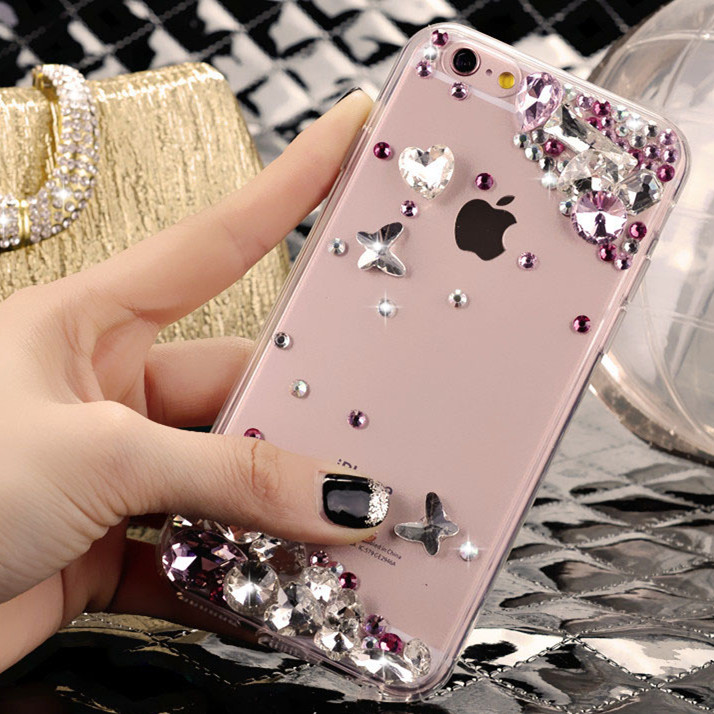 Luxury gem apple 6Splus iphone5se s diamond shell protective sleeve 4s phone shell female new housing cover