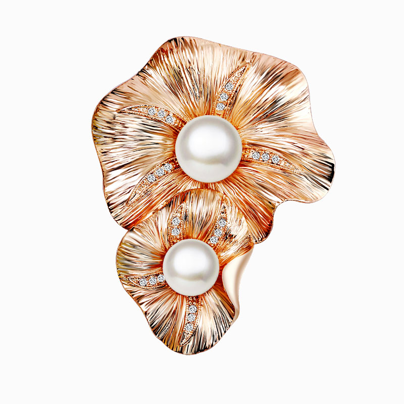 Lydie kana reniforme rhinestone brooch pin female fashion imitation pearl crystal brooch jewelry accessories upscale gift