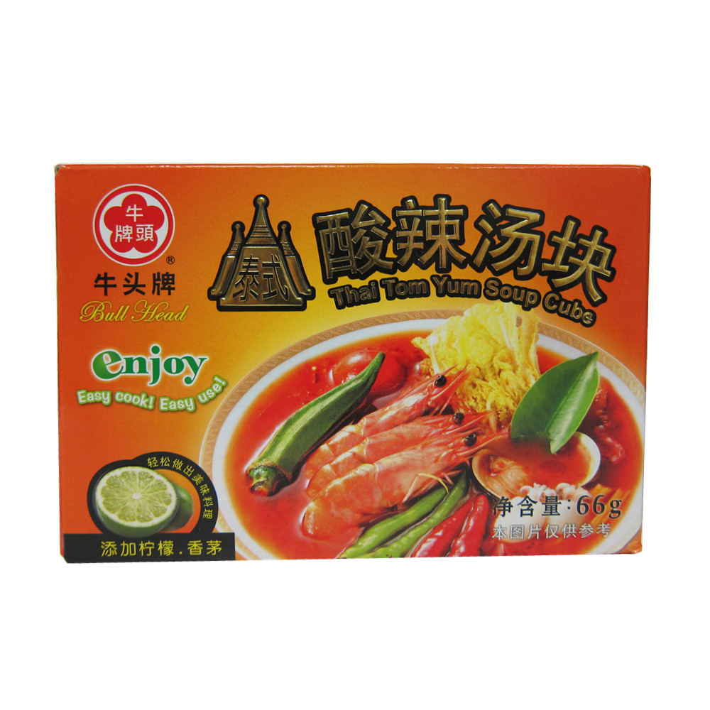 [Lynx supermarket] china taiwan imported buffalo thai hot and sour soup block 66g/box from Taiwan