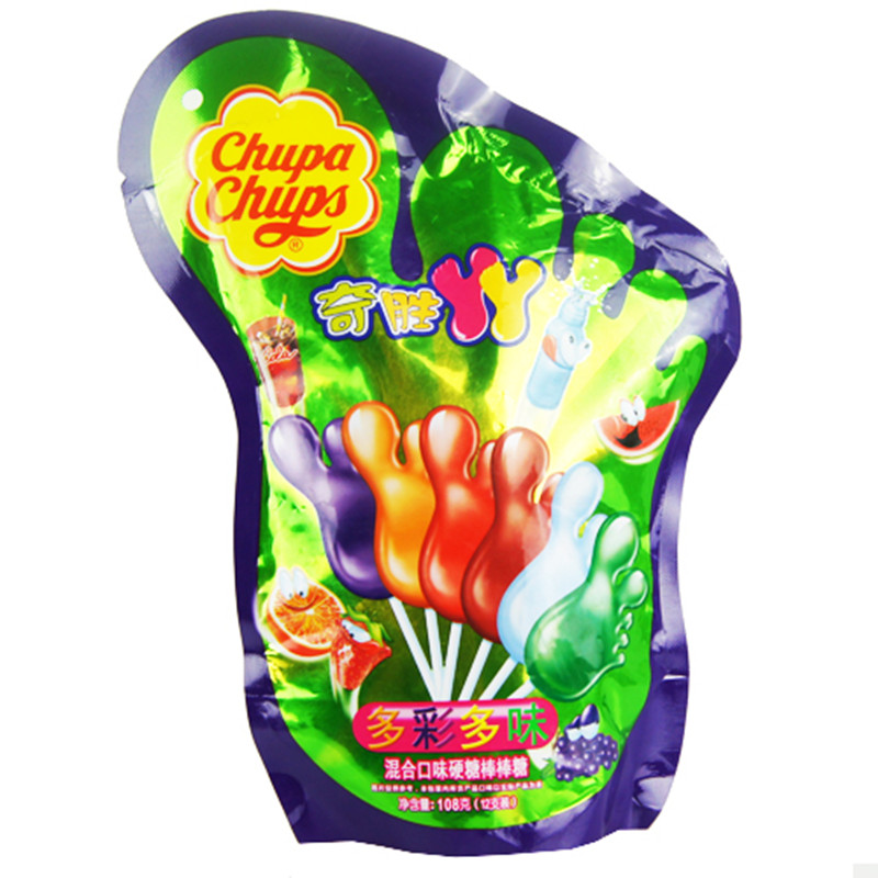 [Lynx supermarket] chupa chups clipsal yaya 108g mix flavors of hard candy lollipop bags containing 12