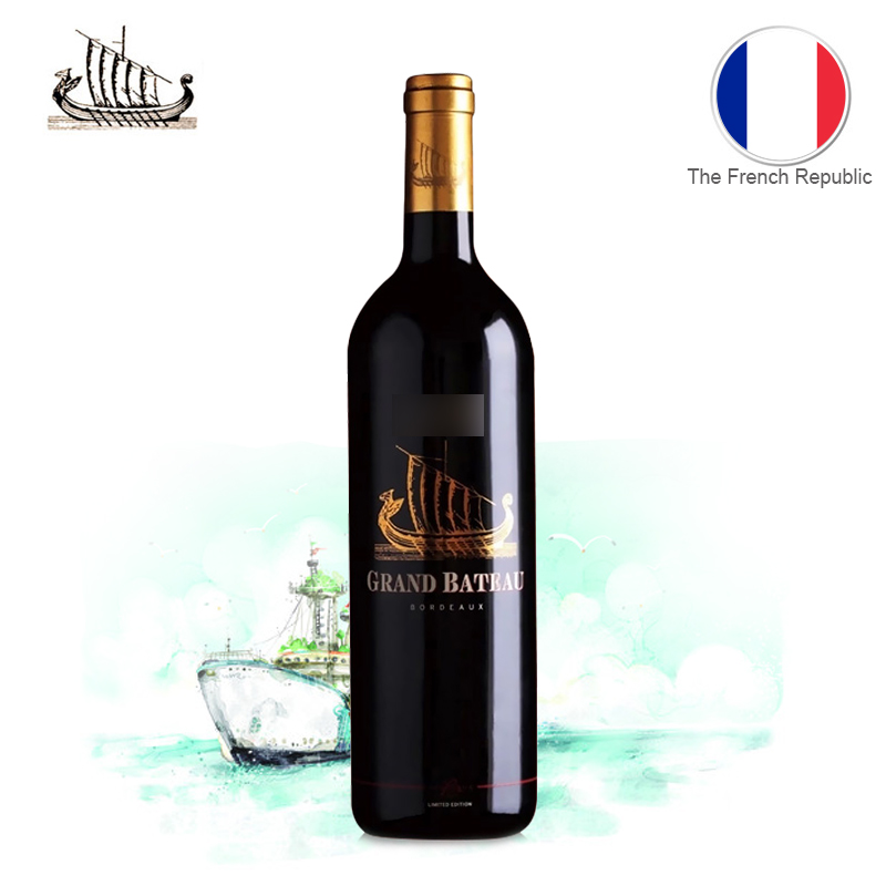 [Lynx supermarket] france bordeaux aoc dry red wine small dragon boat (limited edition volume) 750 ml /Bottle