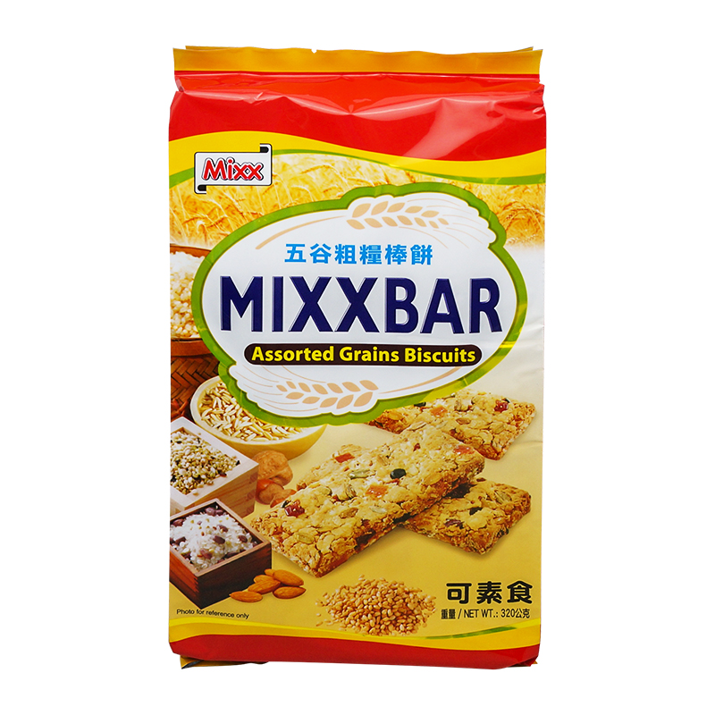 [Lynx supermarket] imported from taiwan mixx moreroughage grain flavor stick biscuits 320g/snack bag of biscuits