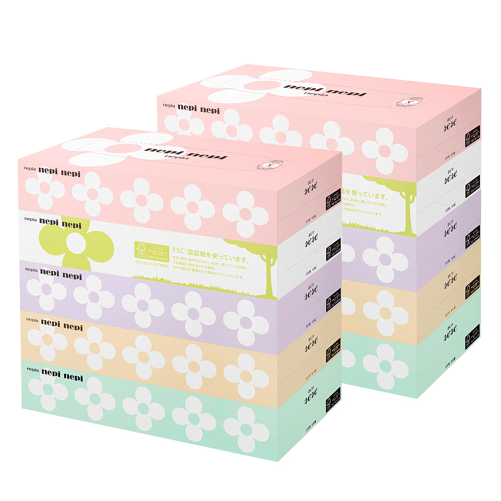 [Lynx supermarket] nepia japan imported boxed glossy paper pumping pumping paper 0 pumping * 5 boxes of 16 * 2 mention