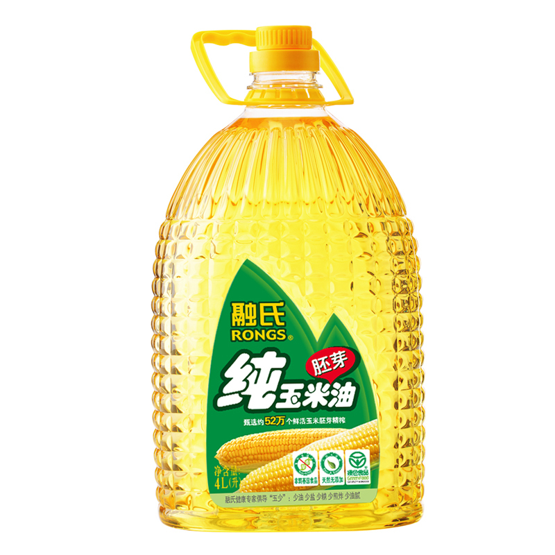 [Lynx supermarket] rong's pure corn germ oil 4l/bottle of non transgenic healthy cooking oil
