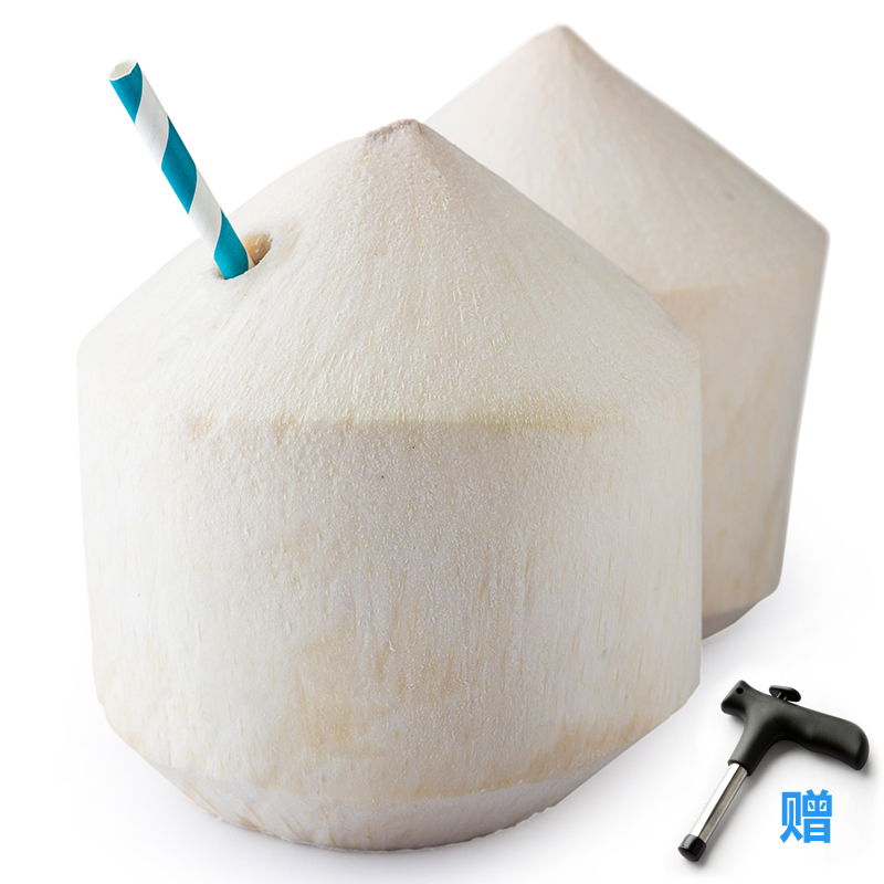 [Lynx supermarket] thai coconut 4 about 700g/month to send open coconut is coconut water Fruit