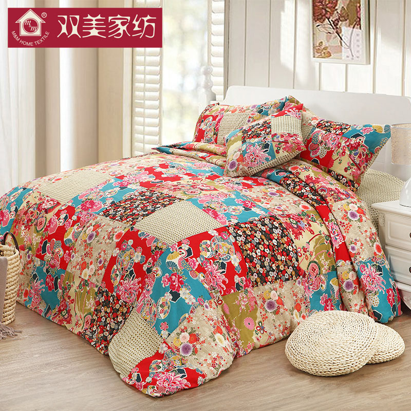 M & m home textile quilt winter is silk is 100 mulberry silk fabric mosaic send pillowcases shipping
