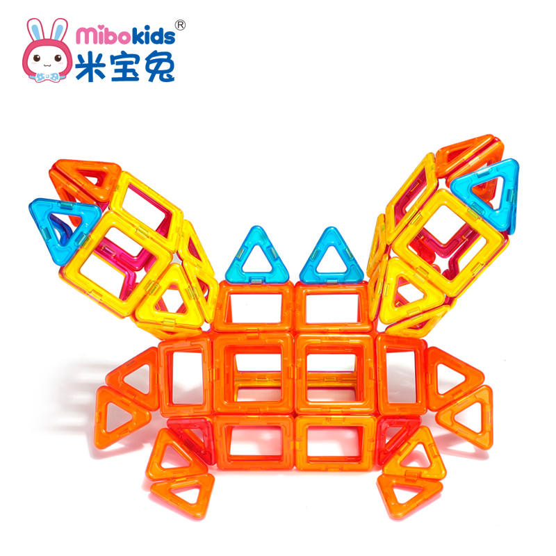 M po rabbit magnetic sheet magnetic building blocks variety pulling magnet magnetic building blocks constructed piece puzzle assembling toys for children