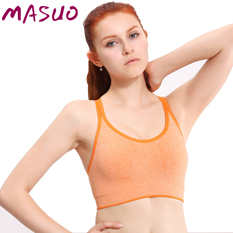ec98a08252 Get Quotations · Ma huzoth spaghetti straps summer sports bra shock no rims  running sports and fitness yoga clothes