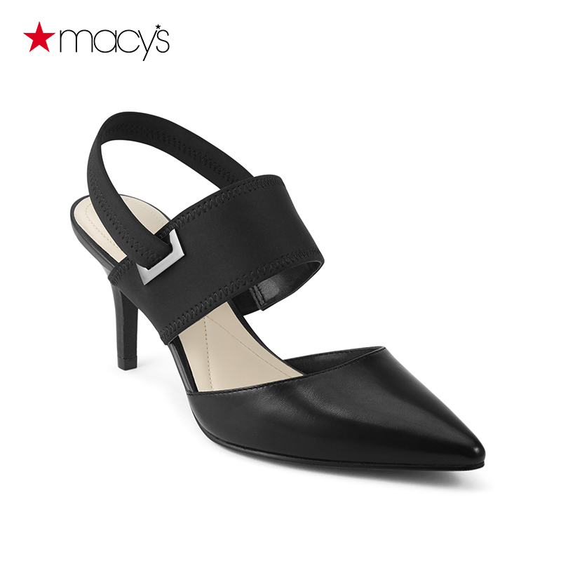 b25cb5146c Get Quotations · Macy 's lady pointed bag toe slingback sandals fine with high  heels fashion wild al