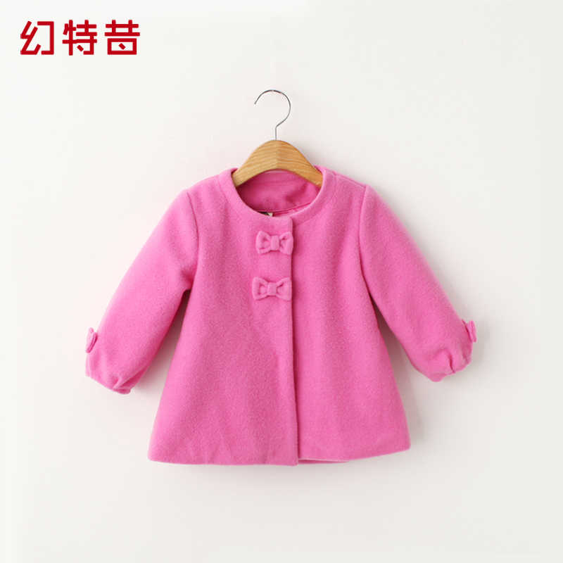 Magic special riboside 2016 fall and winter clothes baby clothing children girls princess sleeve woolen coat thick woolen coat