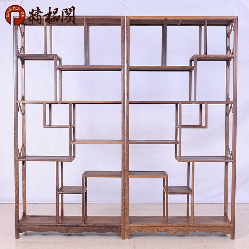 Mahogany furniture wenge wood simple simple chinese wood shelf antique ming and qing antique curio shelf