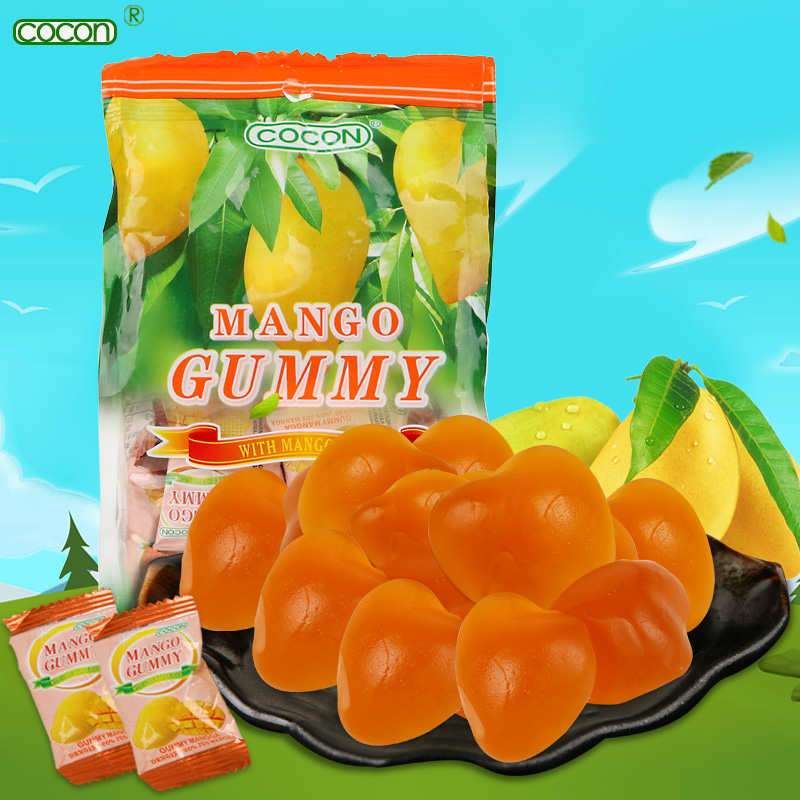 Malaysia imported snacks cocon/can kang mango fruit soft candy candy candy snack 150g/bag