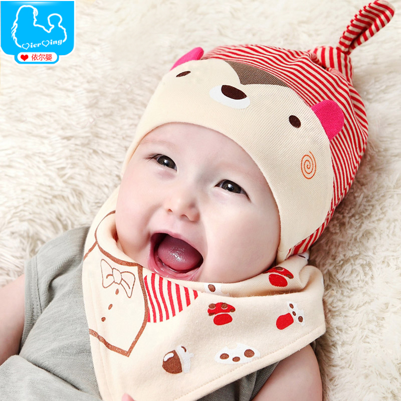 Male and female baby hat baby hat baby hat in spring and autumn months newborn treasure treasure hedging hat