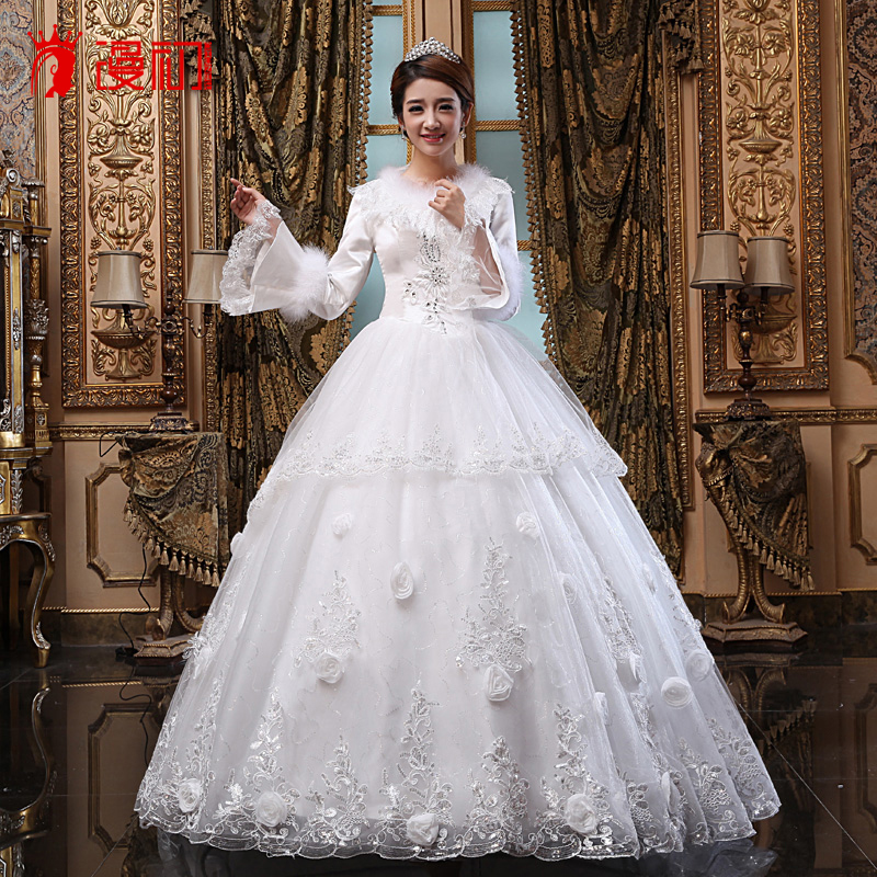 Man at the beginning of 2016 new bride wedding winter wedding dress female thick quilted winter wedding winter wedding dresses