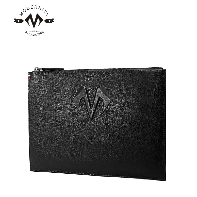 Man bag handbag business man bag leather clutch bag large capacity wallet first layer of soft thick lock code