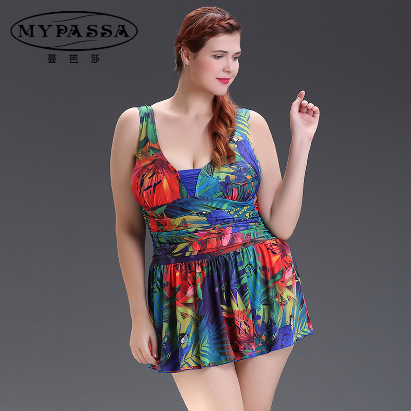 c1d083bf1b Get Quotations · Man bazaar printing fat mm xl floral piece swimsuit  conservative mom swimsuit cover the belly was