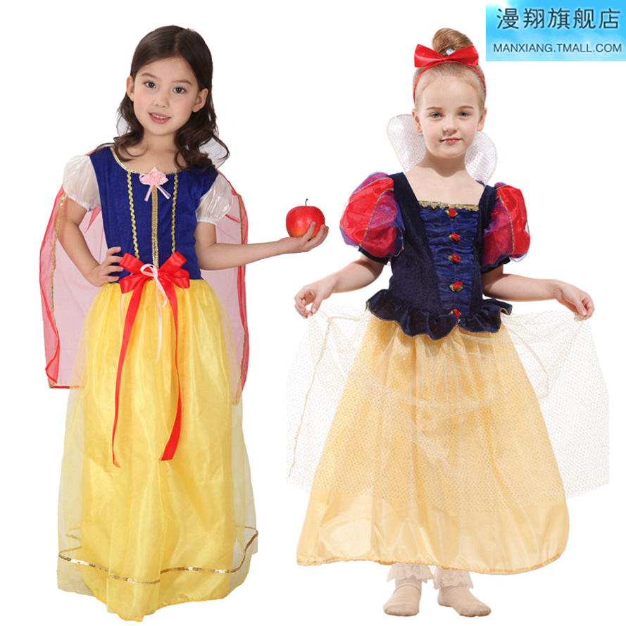 Man cheung cos halloween masquerade children's clothing pantomime snow white princess dress performance clothing for children