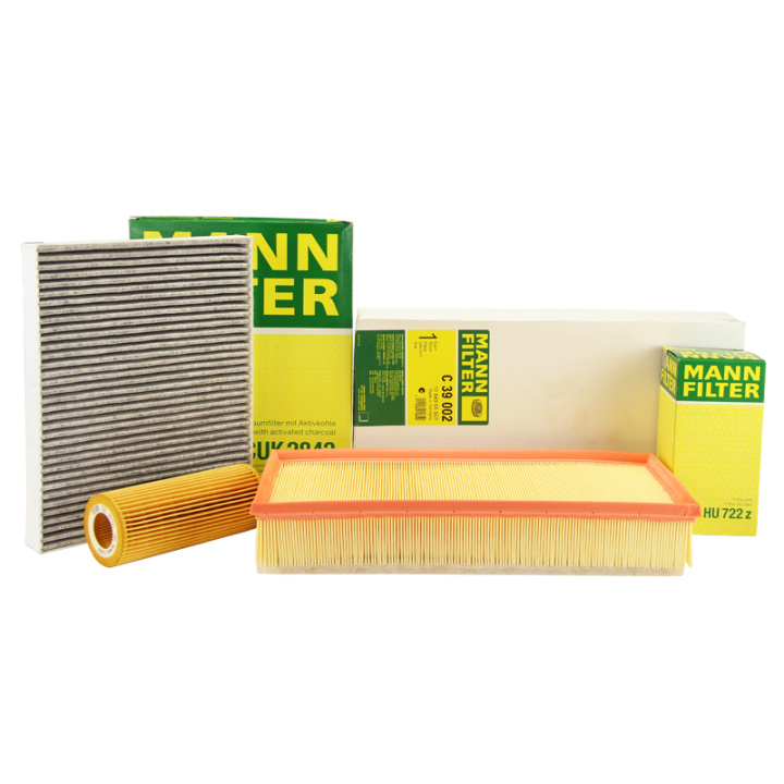 Mann three filter kit audi q7/porsche cayenne/touareg oil filter air conditioning filter air filter