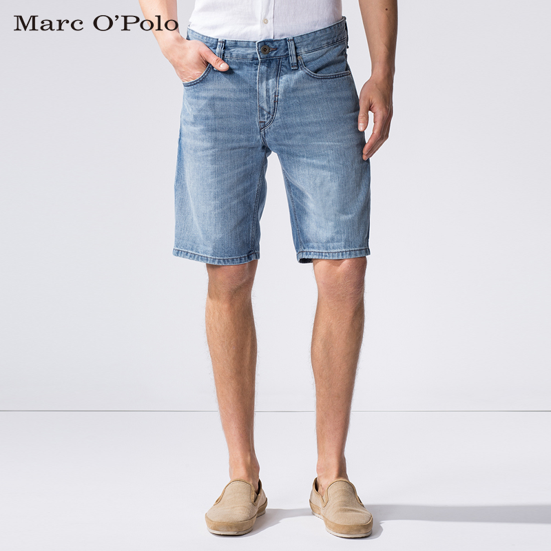 Marc o 'polo fit low waist washed denim shorts male pants men's european and american minimalist casual and comfortable