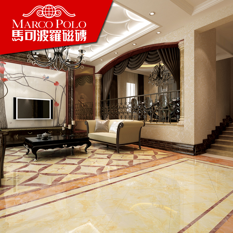 Marco polo living room bedroom floor tiles ceramic stone fh8103800x800mm jade rouge series of specifications 800*800