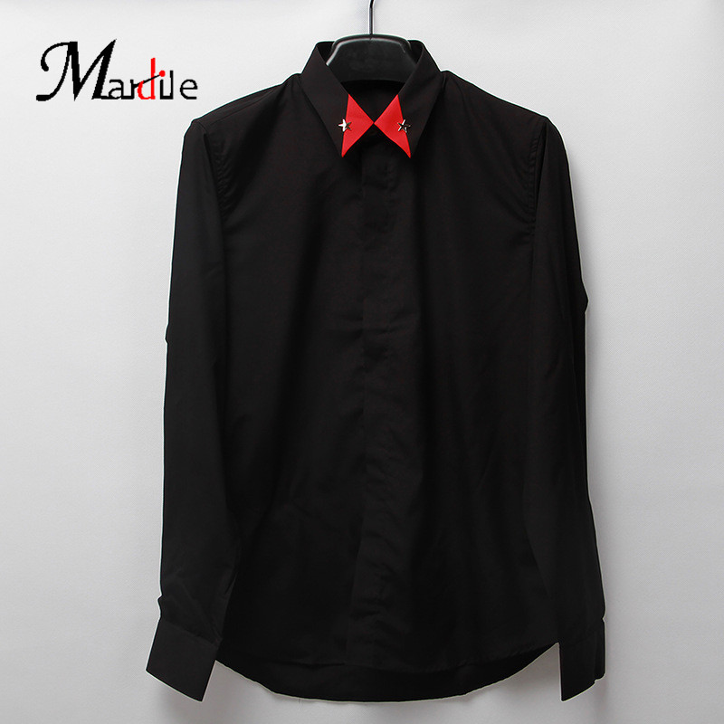 Mardile custom 2016 spring and summer new european and american casual cotton men's long sleeve shirt fashion shirt
